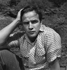Marlon Brando in the backyard of his Beverly Glen home in Los Angeles 1953 © 1978 Sid Avery - Image 0007_0005