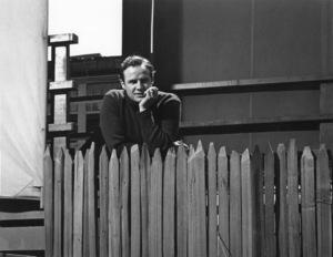 Marlon Brando in the backyard of his Beverly Glen home, Los Angeles 1953 © 1978 Sid Avery MPTV - Image 0007_0027