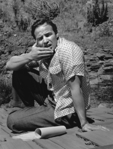 Marlon Brando In the backyard of his Beverly Glen home 1953 © 1978 Sid Avery - Image 0007_0041