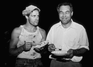 """Marlon Brando with Rudy Bond during filming of """"A Streetcar Named Desire""""1951Photo by Jack AlbinMPTV - Image 0007_0089"""