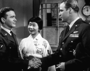 "Marlon BrandoMiyoshi Umeki and Red Buttonsin ""Sayonara""1957 Warner Bros.Photo by Floyd McCartyMPTV - Image 0007_0095"