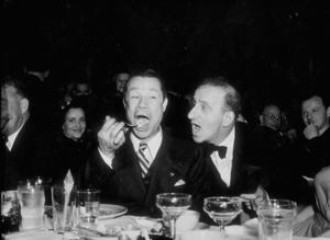 Joe E. Brown and Jimmy Durante at Ciro