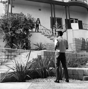 Sammy Davis Jr. in front of his Hollywood Hills home1960© 1978 Sid Avery - Image 0009_0163