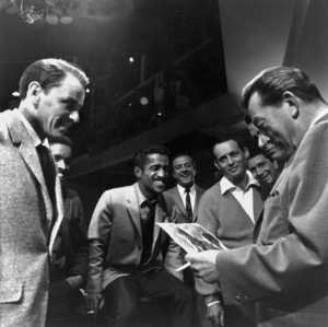 "Frank Sinatra, Sammy Davis Jr.,Joey Bishop, Peter Lawford, Richard Conte, Buddy Lester., Dir. Lewis Milestone. ""Ocean"