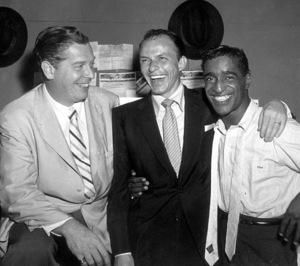 Milton Berle, Frank Sinatra, Sammy Davis Jr., c. 1958. © 1978 Bernie Abramson - Image 0009_2170