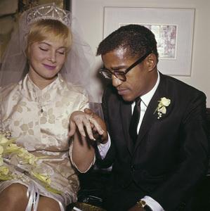 Sammy Davis Jr. and May Britt on their wedding day11-13-1960 © 1978 David Sutton - Image 0009_2173