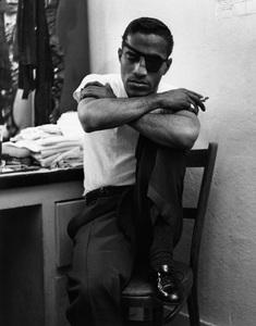 Sammy Davis Jr. in his dressing room at Ciro