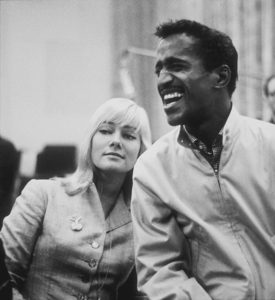 Sammy Davis, Jr. and May Britt at a recording session, 1960. © 1978 Bernie AbramsonMPTV - Image 0009_2196
