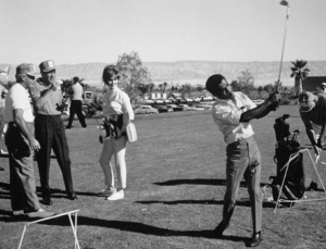 Frank Sinatra, Jill St. John, Bo Wininger and Sammy Davis Jr. at the Canyon Country Club in Palm Springs for The Frank Sinatra Invitational Golf Tournament1963Photo by Lester Nehamkin** G.L. - Image 0009_2211