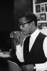 Sammy Davis Jr. at home on his and May Britt