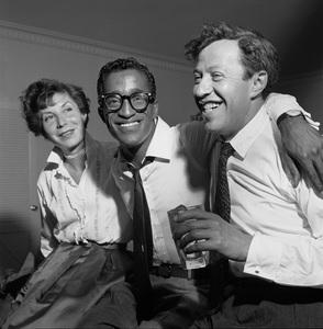 Sammy Davis Jr. with Betty Comden and Adolph Greencirca 1959 © 1978 Bernie Abramson - Image 0009_2267