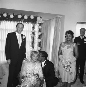 Frank Sinatra and Shirley Rhodes at Sammy Davis Jr.