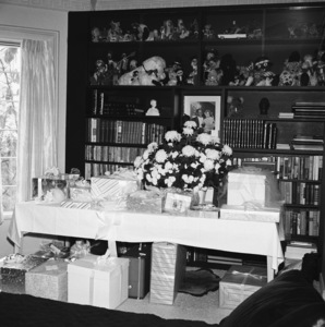 The gift table at Sammy Davis Jr.