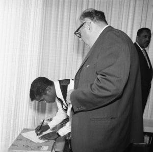 Sammy and the rabbi at Sammy Davis Jr.