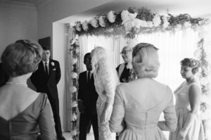 Peter Lawford and Shirley Rhodes (far right) at Sammy Davis Jr.