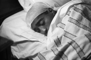 Sammy Davis Jr. resting backstage in his dressing roomcirca 1950s© 1978 Bernie Abramson - Image 0009_2362