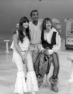 "Cher Bono, Sammy Davis Jr. and Sonny Bono on ""Hullabaloo""09-13-1965  ** B.D.M. - Image 0009_2364"