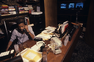 Sammy Davis Jr. at home in his media roomcirca late 1970s© 1978 Gunther - Image 0009_2382