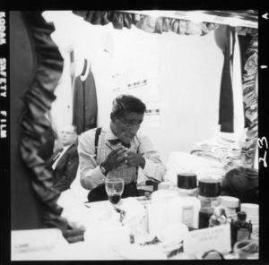 Sammy Davis Jr. in his dressing room at Ciro's August 1st, 1955© 1978 David Sutton - Image 0009_2500