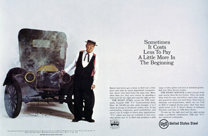 Buster Keaton advertisement for United States Steel1964 © 1978 Sid Avery - Image 0014_0045a