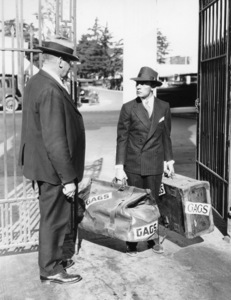 Buster Keaton with MGM studio guard R.J. Owens1927** I.V. - Image 0014_0709