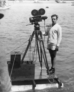 """Buster Keaton during the filming of """"College""""1927** I.V. - Image 0014_0710"""