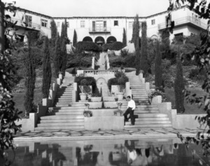 Buster Keaton at his Beverly Hills mansion, the Italian Villa1929** I.V. - Image 0014_0711