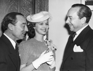 Buster Keaton and Eleanor Keaton on their wedding day with Judge Edward R. Brand at Los Angeles City HallMay 29, 1940** I.V. - Image 0014_0715