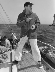 "Humphrey Bogart on his yacht ""Santana""1952© 1978 Sid Avery - Image 0015_0001"