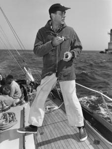 "Humphrey Bogart on his yacht ""Santana""1952© 1978 Sid Avery - Image 0015_0001"