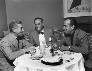Humphrey Bogart and Mike Romanoff at Romanoff