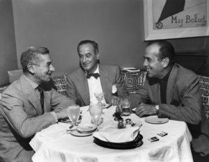 Humphrey Bogart and Mike Romanoff at Romanoff