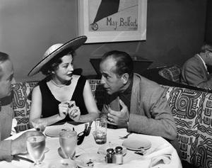 Humphrey Bogart and Arlene Dahl at Romanoff