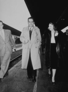 Humphrey Bogart and his third wife, Mayo Methot, circa 1940.MPTV - Image 0015_0803
