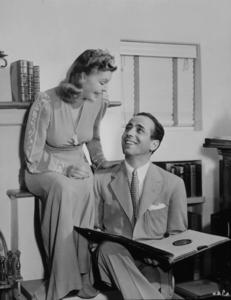 Humphrey Bogart and his third wife, Mayo Methot, at home circa 1944.MPTV - Image 0015_1010