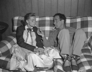 Humphrey Bogart and Lauren Bacall at home circa 1948 - Image 0015_1016