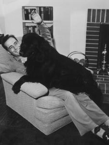 Humphrey Bogart with his dog at home, 1944.MPTV - Image 0015_1044