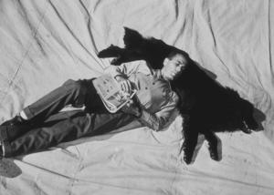 Humphrey Bogart with his dog, 1944 Warner Bros.MPTV - Image 0015_1045