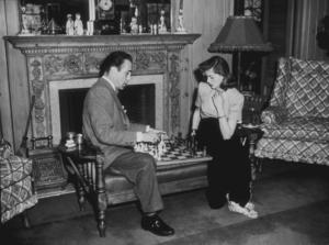 Humphrey Bogart and Lauren Bacall at their Benedict Canyon home, CA, circa 1949.MPTV - Image 0015_1051