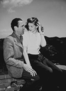 Humphrey Bogart and Lauren Bacall at home, circa 1949.MPTV - Image 0015_1074