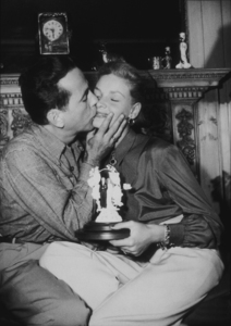 Humphrey Bogart and Lauren Bacall at their Benedict Canyon home, CA, circa 1945.MPTV - Image 0015_1075