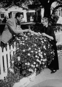 Humphrey Bogart and Lauren Bacall at their Benedict Canyon home, CA, circa 1945.MPTV - Image 0015_1081