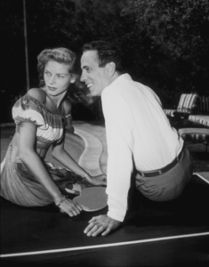 Humphrey Bogart and Lauren Bacall at their Benedict Canyon home, CA, 1948.MPTV - Image 0015_1089