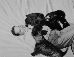 Humphrey Bogart with his dogs, circa 1944.MPTV - Image 0015_1118