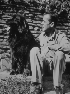 Humphrey Bogart with his dog, circa 1944.MPTV - Image 0015_1122