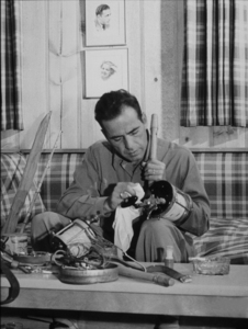 Humphrey Bogart Cleaning his fishing tackle, 1944.MPTV - Image 0015_1134