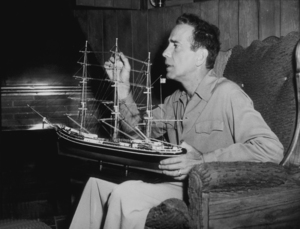 Humphrey Bogart at home, circa 1949.MPTV - Image 0015_1136