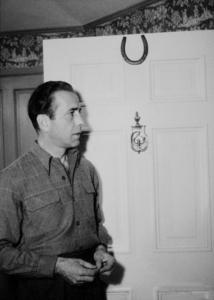Humphrey Bogart at home, circa 1945.MPTV - Image 0015_1154