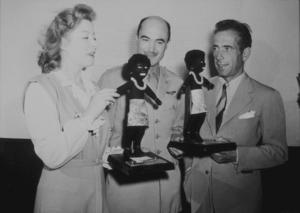 Humphrey Bogart and Greer Garson at NBC Radio, circa 1940.MPTV - Image 0015_1155