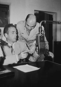 Humphrey Bogart at NBC Radio, circa 1940.MPTV - Image 0015_1158